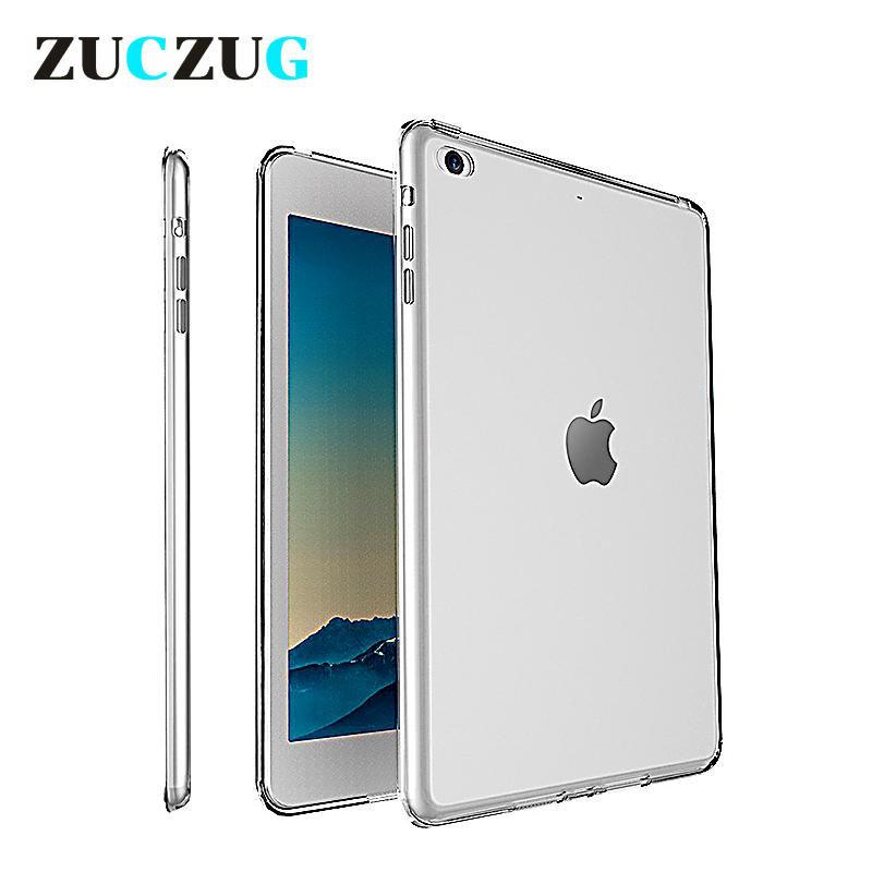 Clear Transparent Silicon TPU Case For iPad Mini 2 3 4 Cover Case For iPad Air 2 Case Slim Tablet Cover For iPad pro 10.5 2018 soft tpu tablet back case for ipad air 1 2 silicone transparent cover for ipad mini 1 2 3 for ipad2 3 4 crystal protective case