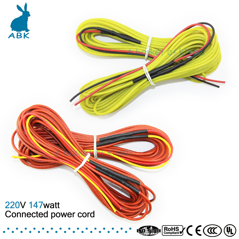 12K 10meters 147W 33ohm carbon fiber heating wire Heating cable Connected power cord Low cost silicone rubber heating wire 12K 10meters 147W 33ohm carbon fiber heating wire Heating cable Connected power cord Low cost silicone rubber heating wire