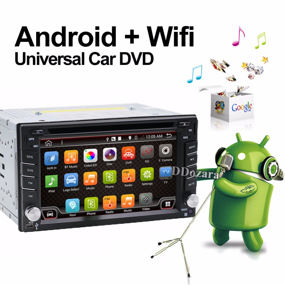 imágenes para Universal 2 din Android 6.0 Coches reproductor de DVD GPS + Wifi + Bluetooth + Radio + 1 GB CPU + DDR3 + Pantalla Táctil Capacitiva + 3G + pc del coche + aduio