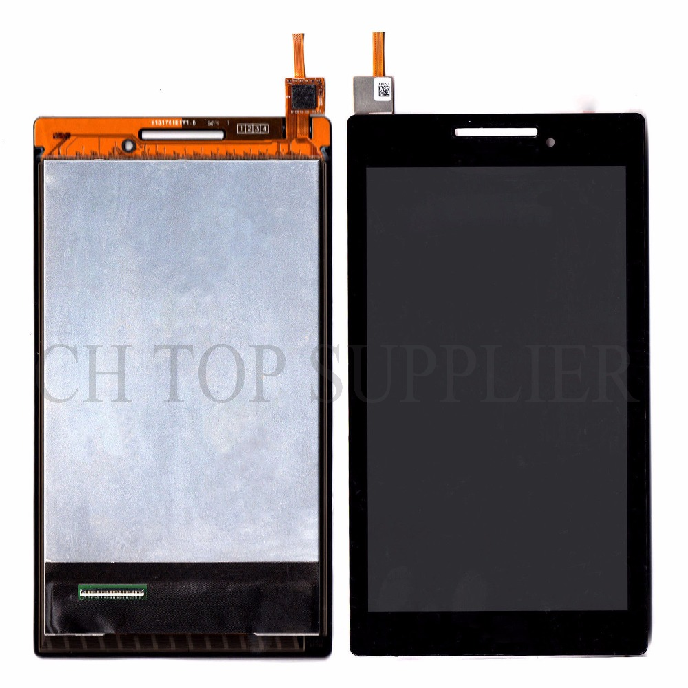 New 7'' inch LCD Display + Touch Screen Digitizer Assembly Replacements For Lenovo Tab 2 A7-10 A7-10F Free shipping for new lcd display touch screen with frame assembly replacement lenovo ideatab a3000 7 inch black white free shipping