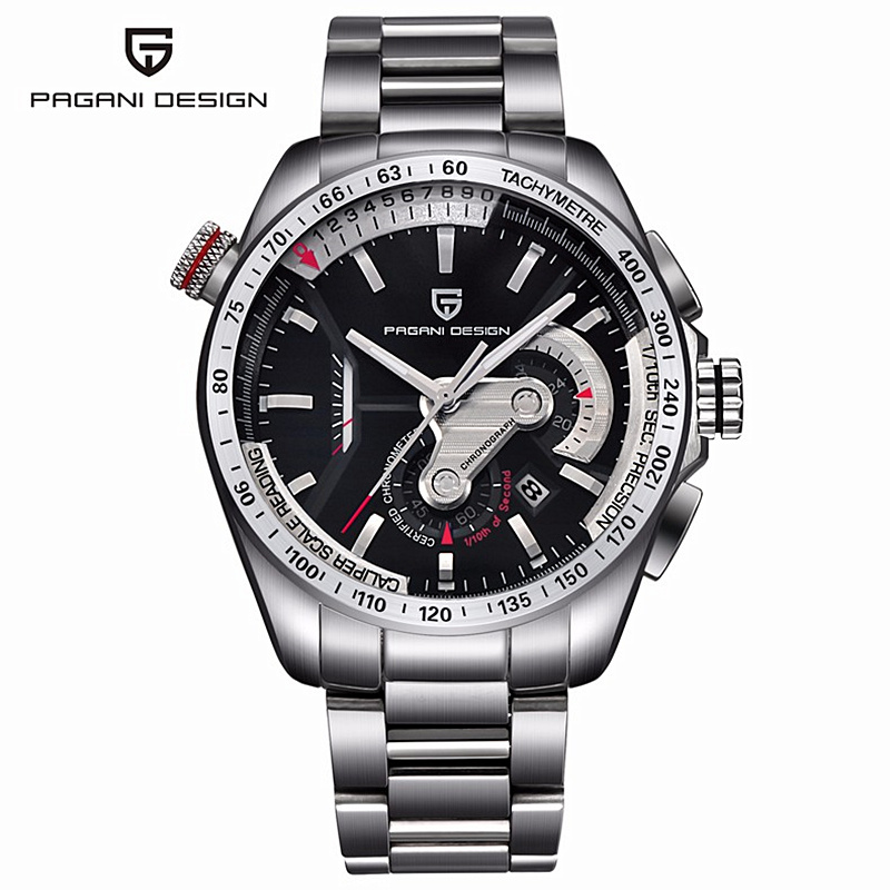Pagani stainless steel Men's Watches Men waterproof Clock reloj hombre Casual fashion business quartz-watch relogio masculino цена и фото