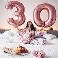 Шт. 1 дюймов шт. 40 дюймов розовый и синий цвета розового золота цифры цифровой воздушные шары из алюминиевой фольги Гелиевый шар День рождения Свадебная вечеринка Декор Globos - фото