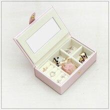 Новые кожаные красивая коробка для украшений подарочной коробке пу Jewelry упаковка для показа Для Женщин косметичку Роскошные серьги уха коробочка для шпилек хранения