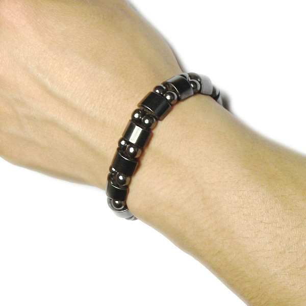 Θεραπευτικά μαγνητικά βραχιόλια απώλειας βάρους με μαύρες πέτρες