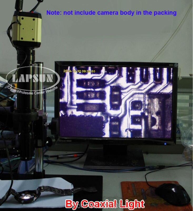 400X инспекционный зум Монокуляр C-mount объектив+ коаксиальное освещение+ стерео подставка для PCB SMD промышленный микроскоп камеры