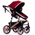 8 Colors Sit and Lie Baby Stroller Folding Baby Carriage Good Shock Absorbers and High Chair  2 Pneumatic Wheel  2 EVA Wheel