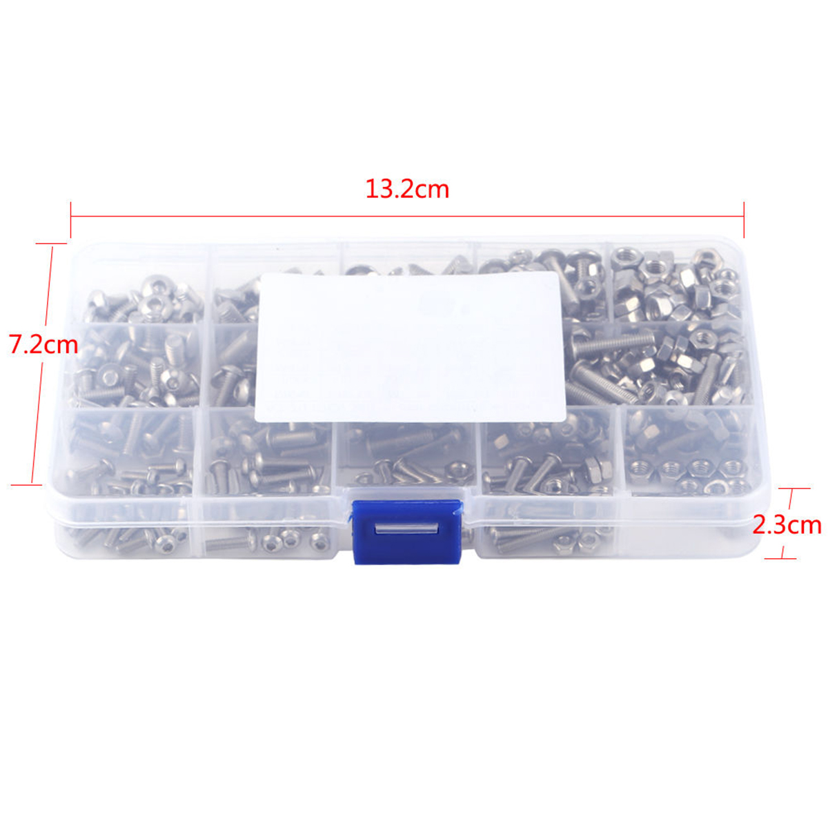440pcs Stainless Steel Hex Socket Screws M3 M4 M5 Mayitr Button Head Bolts Nuts Kit with Plastic Box сандали cristhalia сандали