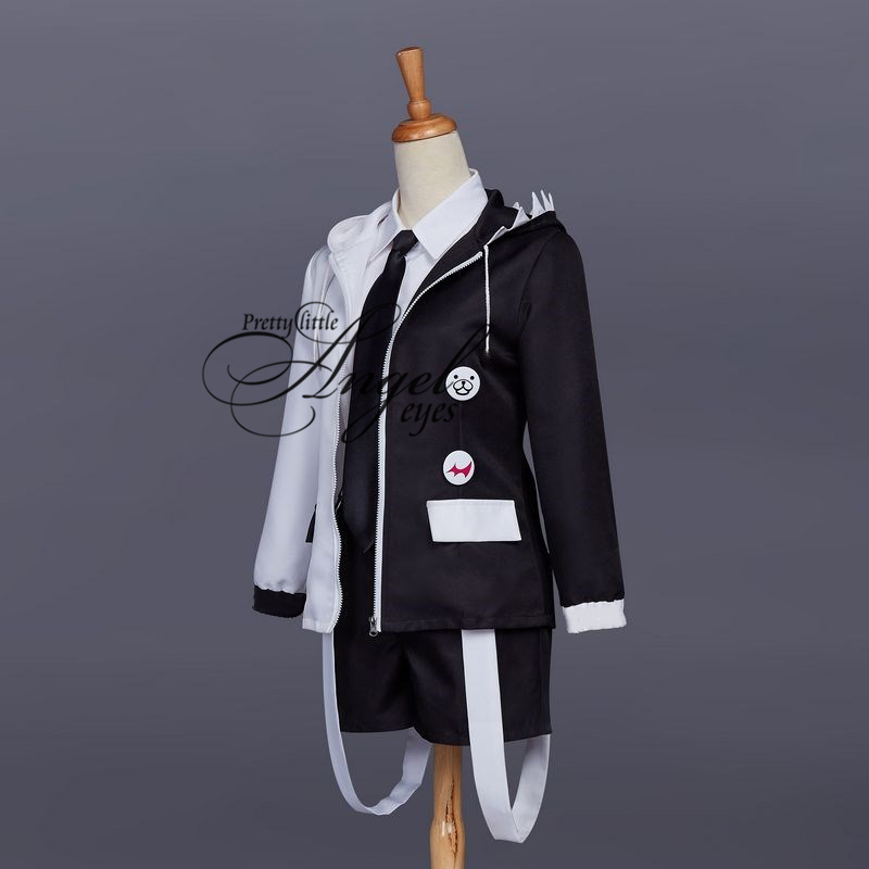 Anime Danganronpa Monokuma Traje Cosplay Uniforme Halloween Party Terno Completo