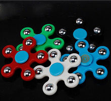 Helen115 Hot Hand Spinner Tri Fidget Finger Spinner EDC Spin Stress Focus Desk Toys Kids Gift