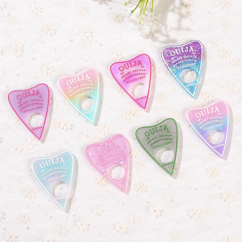 10pcs 42*60mm Ouija Planchette Charms  Flat Back Resin Charms Necklace Pendant For DIY Decoration