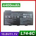 4400 мАч аккумулятор Для ноутбука MSI 91NMS17LD4SU1 91NMS17LF6SU1 957-173XXP-101 957-173XXP-102 BTY-L74 BTY-L75 MS-1682