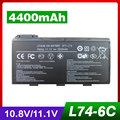 4400mAh laptop battery For MSI 91NMS17LD4SU1 91NMS17LF6SU1 957-173XXP-101 957-173XXP-102 BTY-L74 BTY-L75 MS-1682