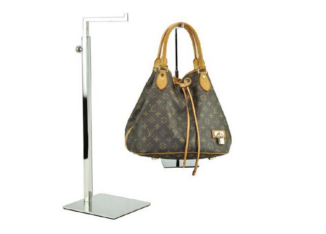 Prata Bolsa Ajustável Display Stand Metal polido Bolsa Display Rack Mulheres Bag saco de Exibição titular acessórios para móveis