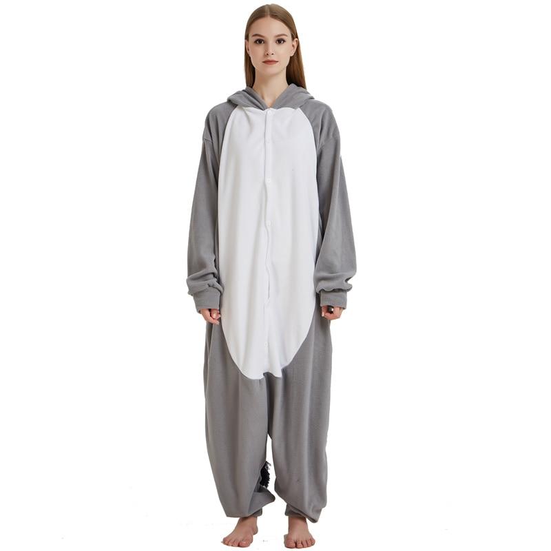 Men Adult Funny Cute Rhinoceros Gray Pajamas Cosplay Costume Animal Onesies Rhino Sleepwear