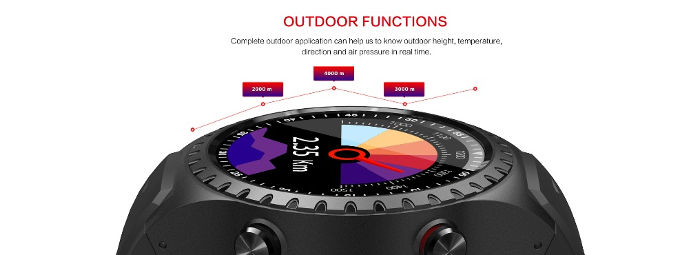 LEMFO M1 Men's Bluetooth Smart Watch With GPS IP67 Waterproof Heart Rate Monitor And Long Standby Time 4