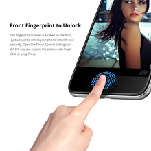 Desbloqueado teléfonos celulares iLA D1 Smartphones 2 GB 16 GB Quad Core MTK6737 5,2 «1280*720 HD de huellas dactilares identificación de teléfono móvil Android Teléfono
