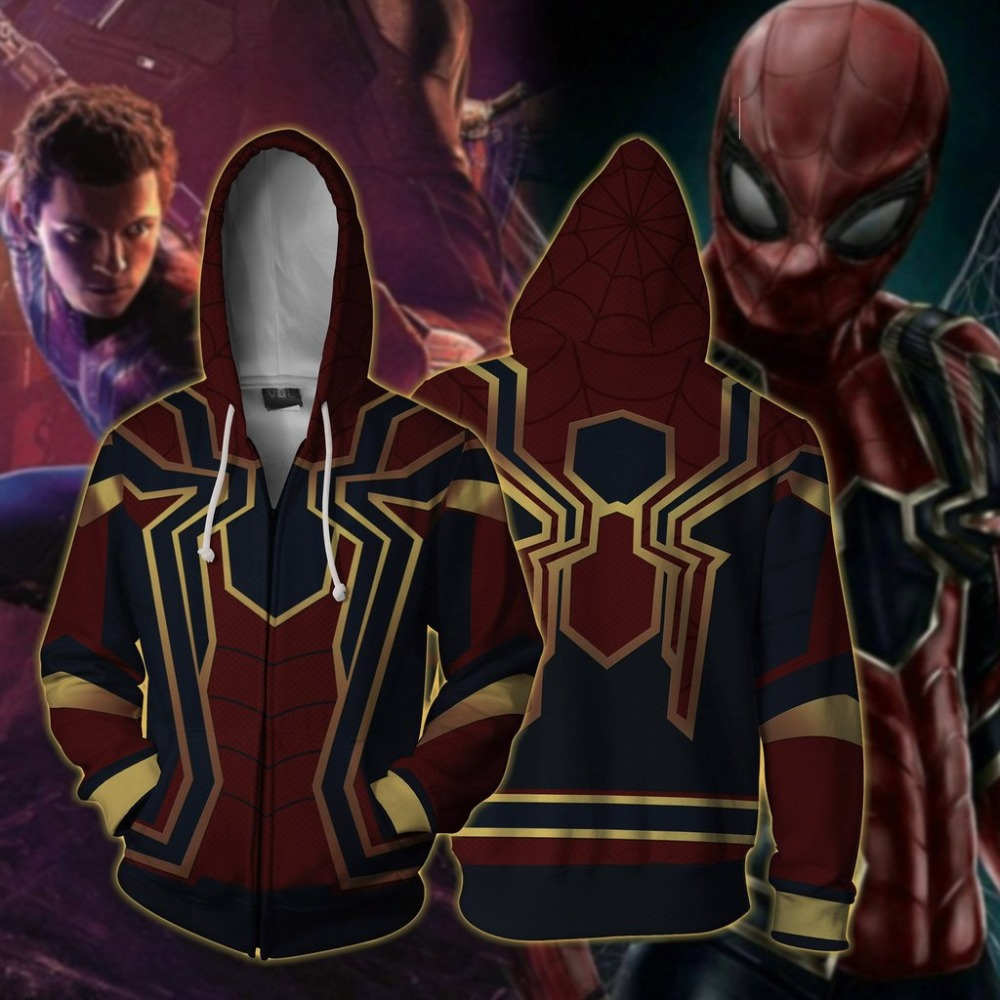3D Print Superhero Amazing Spiderman Spider Man Coat Hoodies Sweatshirts Cosplay Hooded Casual Jacket