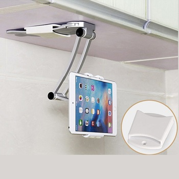 Wall Desk Tablet Stands Kitchen Tablet Mount Stand Phone Holder Fit For 5-10.5 inch Width Metal Bracket Notebook Holdersd Tablet Stands