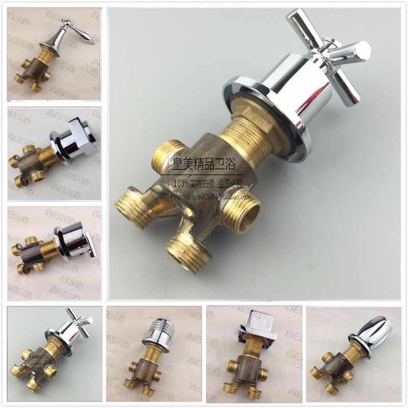 Free Shipping Brass Switch Mixer Valve for Bathtub Bathroom Tub Filler Diverter Handle Deck Mount Chrome Finish