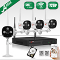 Anran 4ch nvr sistema cctv 720 p cámara ip inalámbrica wifi resistente al agua IR Noche Vison Home Video Vigilancia Kit de 1 TB HDD seleccionable