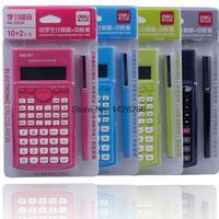 과학 계산기 컬러 calculadora 태양 전원 전자 교과서 문구 사무실 소재 학교 용품 deli33230
