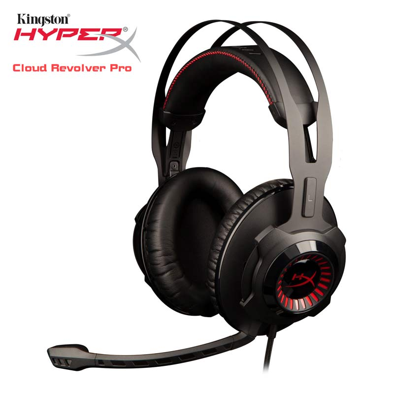 Kingston HyperX Cloud Revolver Pro Gaming Wire Headset with Removable Microphone Game Music MP3 DJ PS4 3.5mm Earphones for PC