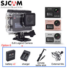 100% Original SJCAM SJ6 Legend 4K WiFi Sport Action Camera Mini DV+Extra Battery+Charger+Extended Microphone+Remote Selfie Stick