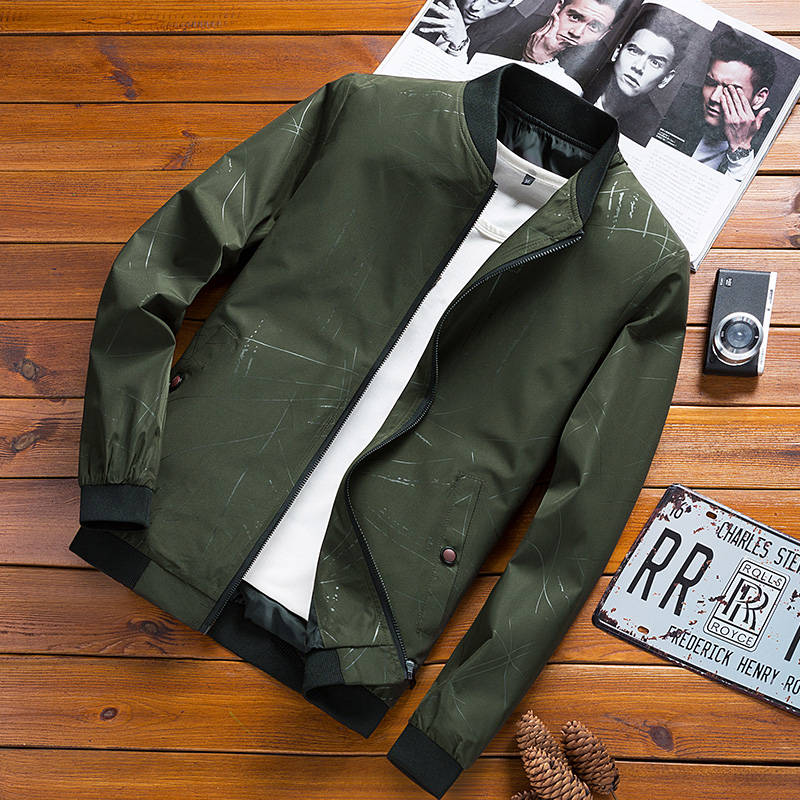 Baseball Jacket Men Brand Casual Solid Fashion Slim Zipper Jackets