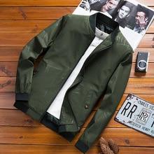 2020 Baseball Jacket Men Brand Casual Solid Fashion Slim Zipper Jackets Men High Quality Streetwear Overcoat Male Pilot Jackets