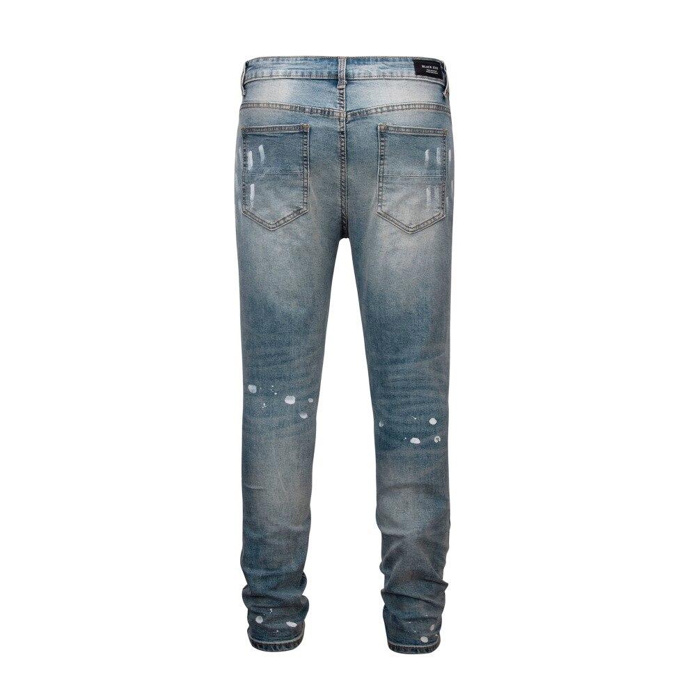 À Kanye Nouveau Locomotive L'eau Hiphop Trous Fashion Vieux Peinture Le Faire Pantalon Lavage Top 2018 Jeans Patch Japon Ouest wgtPt