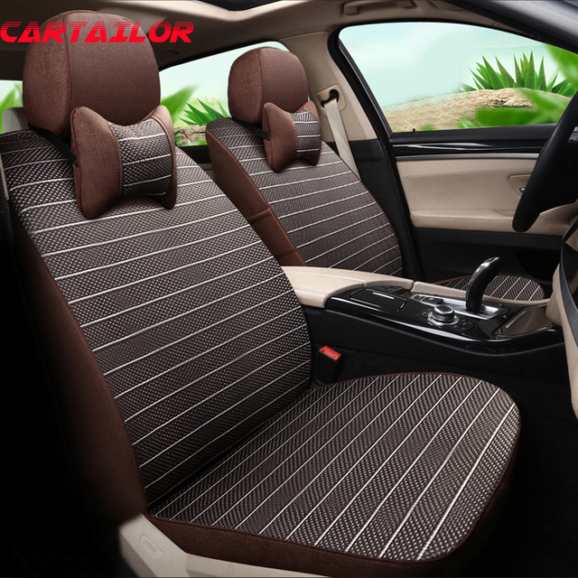 CARTAILOR Seat Covers Cars Cushion Protector For Nissan Patrol Car Seats Beige Cover Interior
