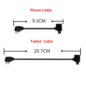 Image 2 - Remote Control Data Cable Connecting Phone Tablet Connector Line Nylon Line For DJI Mavic Pro / AIR mavic 2 Drone Accessories