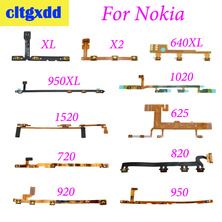 cltgxdd 1 pcs Power On / Off Button Volume Button Mute Switch Flex Cable For Nokia XL X2 640 950XL 1020 1520 625 720 820 920 950 image