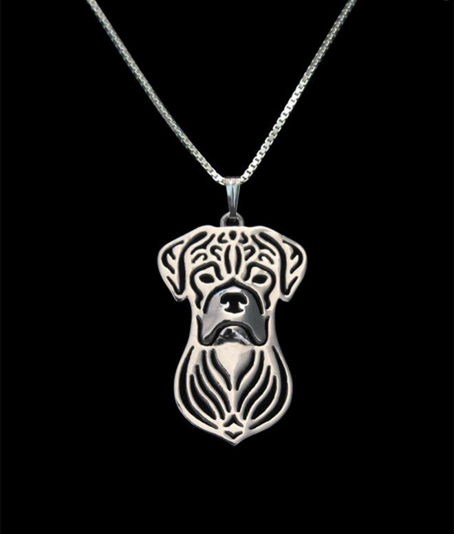 Unique Handmade Boho Chic Boxer Pendant Necklace Female and Male Gift Jewelry Necklace--12pcs/Lot(6 Colors Free Choice)