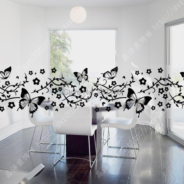 Vidro cintura filme porta de vidro adesivos varanda porta for Adesivos p porta de vidro