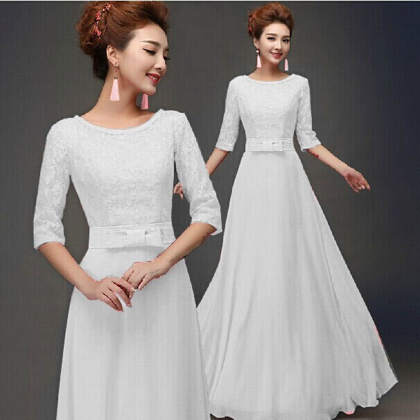 f3faa202fa5 Latest Ladies Western Dress Designs For Ladies Lace White Dress C762 ...