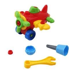 Красочный пластиковый автомобиль самолет детская игрушка разборка сборка игрушки для ребенка развивающие Intellegent Детские Ранние