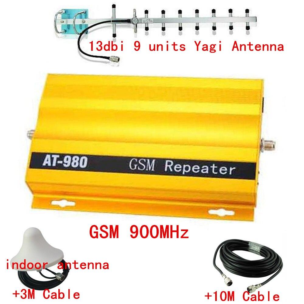 900 MHZ GSM Répéteur pour Amplificateur de Signal, téléphone portable Booster Amplificateur, GSM 2G Répéteur de Signal Booster Amplificateur 13db yagi + Câble