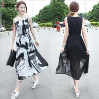 JMS Kasenbely Maternity Dresses Long Tank Pregnancy Clothing Summer Print Mternity Clothing With Belt Casual Grossesse