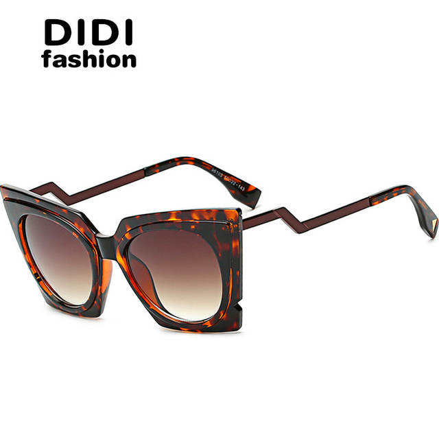 2845831b0777 Online Shop DIDI 2017 Steampunk Cat Eye Sunglasses Women Twisted Triangle  Street Glasses Clear Frame Circle Lens Celebrity Party Shades W642