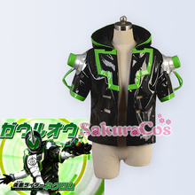 Faux Leather Hoodie Jacket!Anime Masked Rider GHOST NECROM cosplay costume Outer Top Unisex S-XL stock size NEW Free shipping