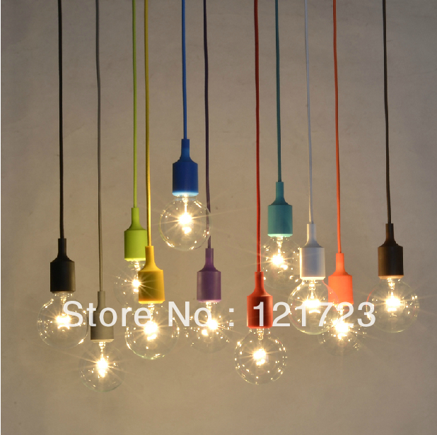 Colorful Small Pendant Light Decoration Bar Table Personalized Restaurant Lamp Hanging Bulb Single