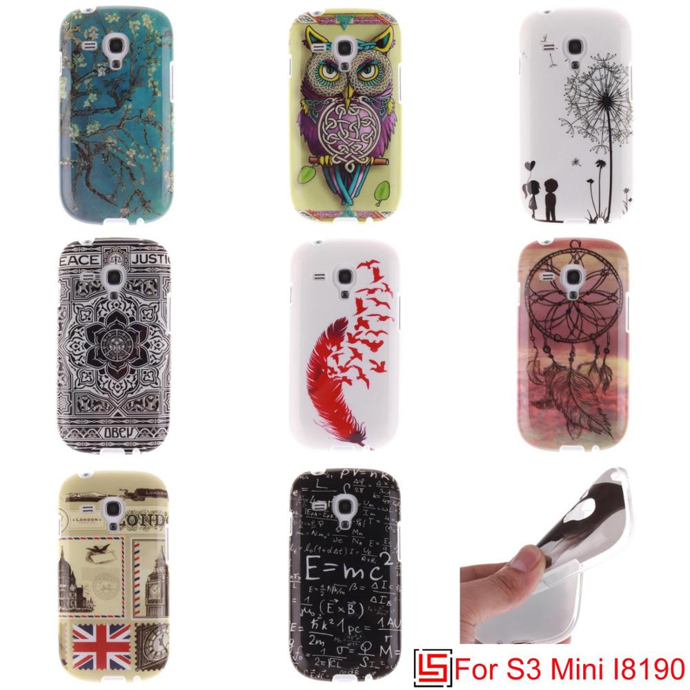 Fashion Cheap Best Ultra Thin TPU Silicone Soft Phone Cell Mobile Case Cover Cove For Samsung Galaxy S3 mini Dandelion Flower