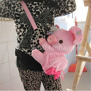 Image 5 - Cartoon Rilakkuma Bear Oblique satchel plush across the purse Crown pig wallet Stitch Zero wallet Winnie the pooh plush purse