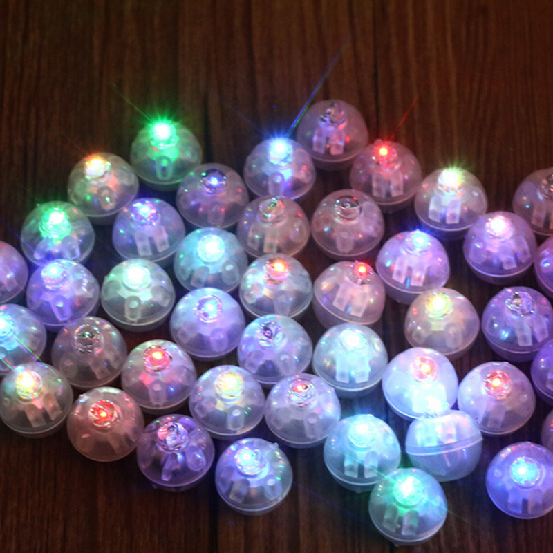 10Pcs/lot Round Ball Tumbler LED Balloon Lights Mini Flash Luminous Lamps for Lantern Bar  Christmas Wedding Party Decoration