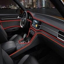 1 m/2 m/3 m/5 m atmosfera lampade interni auto luce ambiente luce fredda linea fai da te decorativo cruscotto console porta stile auto LED