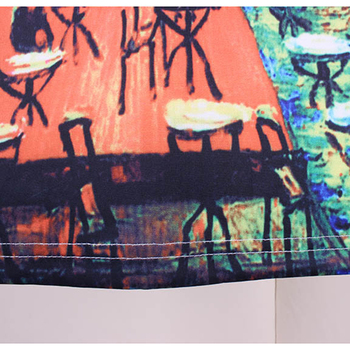 Women Spring Summer Style Pencil Skirt High Waist Skirts Vintage Elegant Bodycon Painting Print Midi Skirt 3