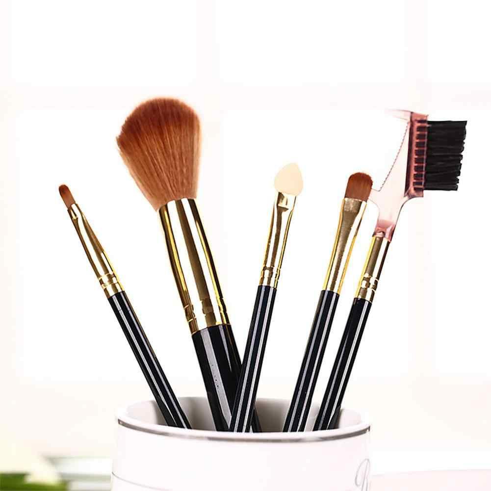 Хоббилана 5 шт., набор кистей для макияжа, мягкие синтетические волосы, румяна, тени для век, губы, Кисть для макияжа, инструмент, случайный цвет