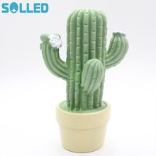 SOLLED Green Cactus LED Night Light Fashion Creative Lamps For Christmas  Home Living Room Decoration Zk20