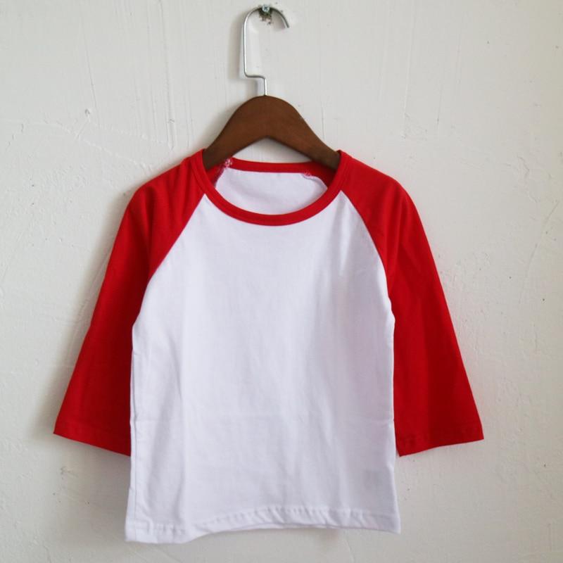 uk cheap sale 100% quality super quality red sleeve raglan T shirts for children bulk order shirts ...